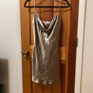 Lovers and Friends gold slip dress